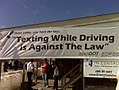 Safe Driving Law Banner, Weymouth, September 29, 2010 (5036152871).jpg