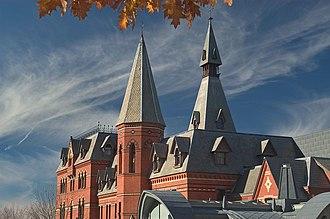 Sage Hall - A side view of Sage Hall