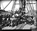 Sailors and officers on deck of GENERAL BAQUEDANO, July 1931 (6987633650).jpg