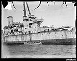 Sailors disembarking from HMAS Australia before the ship was scuttled.jpg