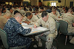 Sailors from Naval Station Guantanamo Bay and Joint Task Force Guantanamo take the Navy-wide first class petty officer advancement examination DVIDS374080.jpg