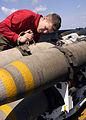 Sailors prepares training weapons aboard USS Theodore Rossevelt DVIDS89739.jpg