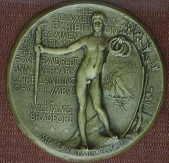 Saint-Gaudens double eagle - Saint-Gaudens's rejected reverse design for the World Columbian Exposition medal