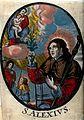 Saint Alexius. Coloured engraving. Wellcome V0048886.jpg