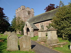 Saint Faith's church, Bacton, Herefordshire in 2008.jpg