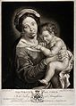 Saint Mary (the Blessed Virgin) with the Christ Child. Mezzo Wellcome V0033744.jpg