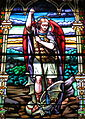 Saint Paul Church (Yellow Springs, Ohio) - stained glass, Saint Michael the Archangel.JPG