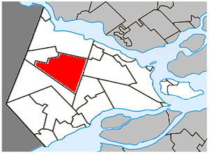 Sainte-Marthe, Quebec - Image: Sainte Marthe Quebec location diagram