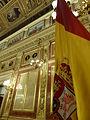 Salón de Conferencias Palacio de las Cortes, bandera, Madrid, España, 2015.JPG