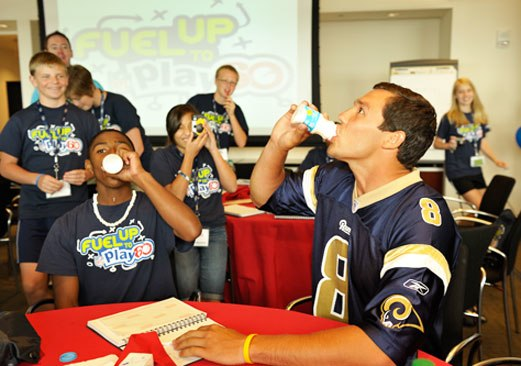Sam-Bradford-Drinking-Milk - Flickr - USDAgov