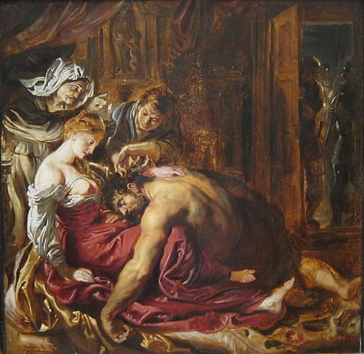 Samson and Delilah by Rubens, 1609