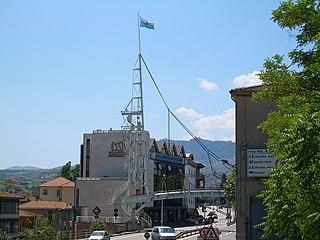Dogana Town and Civil Parish in Serravalle, San Marino