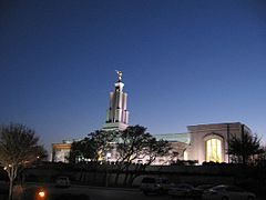 San Antonio Temple at night 6.JPG