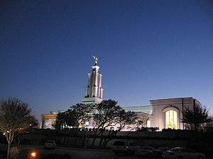 San Antonio Texas Temple - Image: San Antonio Temple at night 6