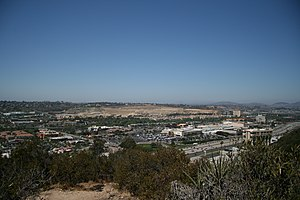 Mission Valley, San Diego - Central Mission Valley viewed from University Heights Park