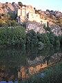San Saturio reflejado en el rio Duero. Soria.JPG