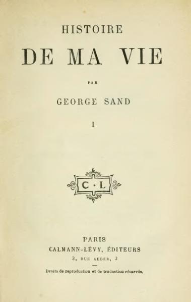 Fichier:Sand - Histoire de ma vie - tome 1.djvu