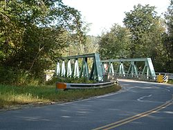 The bridge that carries Route 57 across the Clam River