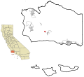 Santa Barbara County California Incorporated and Unincorporated areas Buellton Highlighted.svg