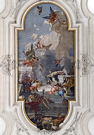 Gesuati - The ceiling by Giovanni Battista Tiepolo.