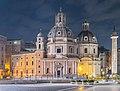 Santa Maria of Loreto church and Holy Name of Mary church in Rome (a).jpg