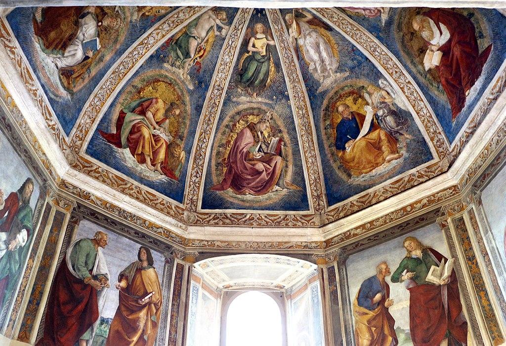 Santuario di loreto, sagrestia di san giovanni, con affreschi di luca signorelli, 01.jpg