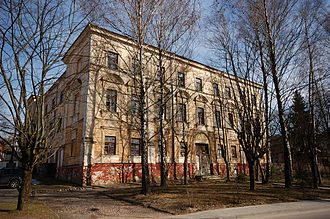 Sapieha Palace, Vilnius - Sapieha Palace before restoration