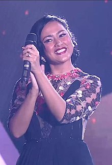 Sarah Sechan as Host Festival Film Indonesia 2015.jpg