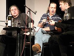 Boris Dežulović - Boris Dežulović (center) together with Predrag Lucić and Benjamin Isović