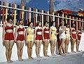 Sarasota Sun-Debs posture training class at Lido Beach, Florida (9600818234).jpg