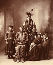 Sauk Indian family by Frank Rinehart 1899
