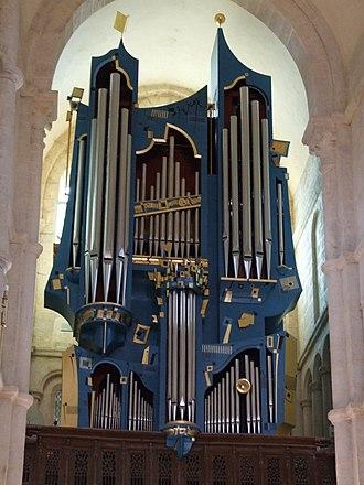Organ building - Modern organ in Basilica of St. Andoche, Saulieu, France
