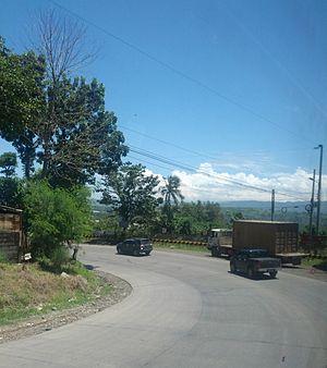 Sayre Highway - Image: Sayre Highway Curve 2