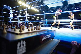 Chess boxing Hybrid game of chess and boxing