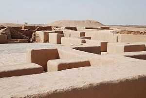 "Dūr-Katlimmu - Ruins of the ""Red House"" of Tell Sheikh Hamad exposed by excavations (6th century AD)"