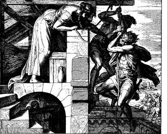 People smuggling - Rahab as a human smuggler in this 1860 woodcut by Julius Schnorr von Karolsfeld