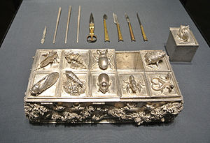 Wenzel Jamnitzer - Silver box for writing implements