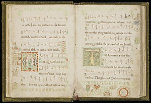 Metrical psalter - A 16th-century metrical psalter produced by Thomas Wood, held by the University of Edinburgh.