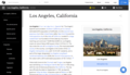 """Screenshot of """"Los Angeles"""" article on Everipedia.png"""