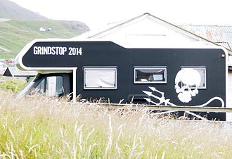 Sea Shepherd Conservation Society operations - One of Sea Shepherd's campers in the Faroe Islands in 2014.