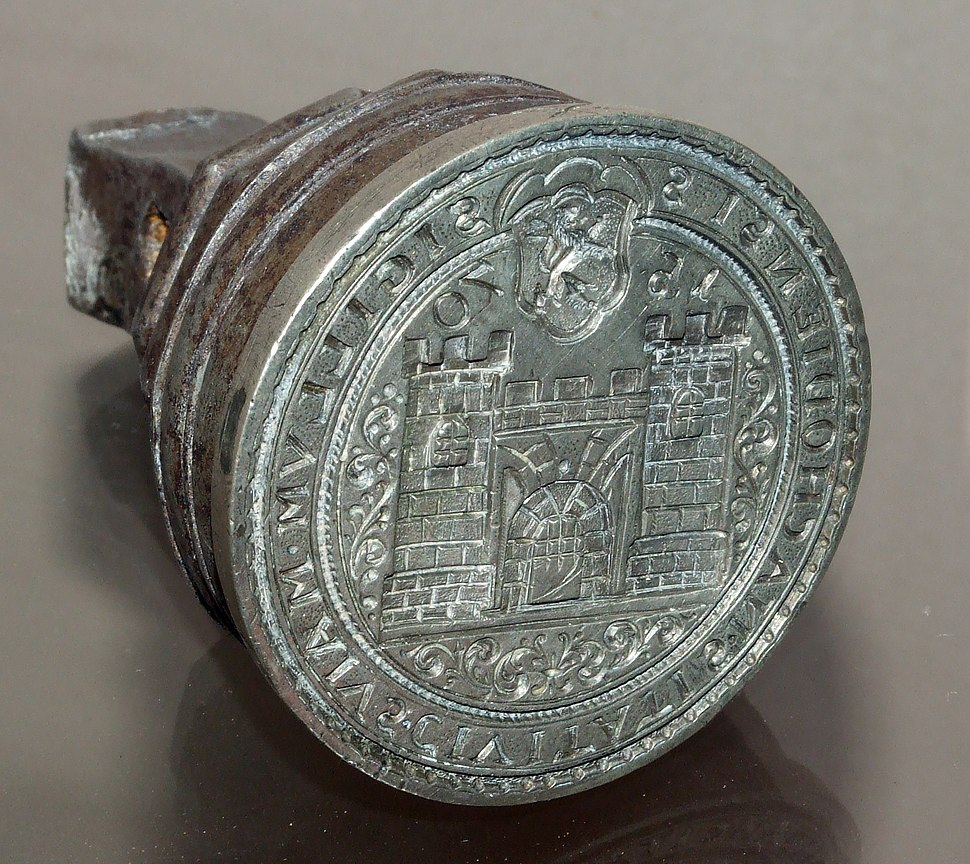 Seal of Náchod town from 1570 (big)