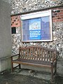 Seat outside Worthing Baptist Church - geograph.org.uk - 1714440.jpg