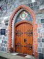 Secondary door and portal of Church of Saint George in Sopot.jpg