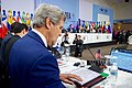Secretary Kerry Reviews His Notes During a Plenary Session of the OAS General Assembly in Santo Domingo (27059272043).jpg