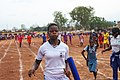 Senior Female Student Athletes as they embark on a 400 meters relay race 02.jpg
