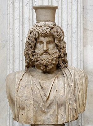 Serapis - Marble bust of Serapis wearing a modius