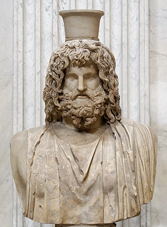 Serapeum - Marble bust of Serapis, Roman copy after a Greek original from the 4th century BC