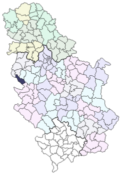 mapa srbije ljubovija Ljubovija (općina) – Wikipedija mapa srbije ljubovija