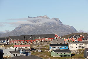 Sermitsiaq (mountain) - Sermitsiaq viewed from Nuuk