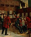 Several Chelsea Pensioners gathered around, one of whom is Wellcome V0012951.jpg